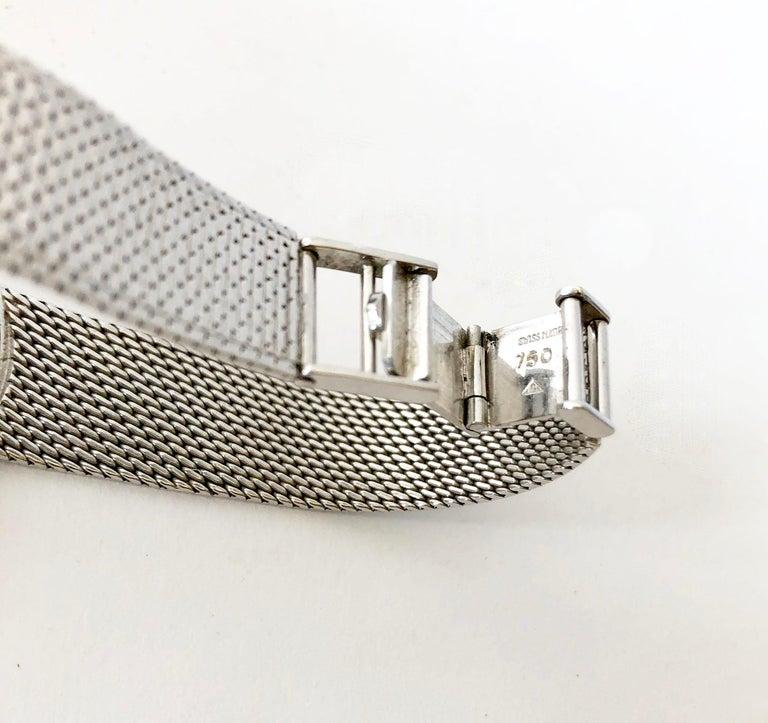Women's Cartier Universal Genéve 18 Karat White Gold Diamond Ladies Wristwatch For Sale