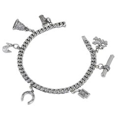 Cartier and Van Cleef & Arpels Diamond Charm Bracelet