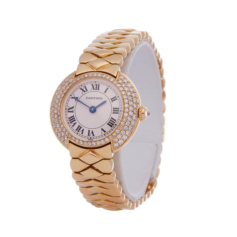 Ref: COM1888 Manufacturer: Cartier Model: Vendome Model Ref: 1292 Age: Circa 1990's Gender: Ladies Complete With: Presentation Box Dial: White Roman  Glass: Sapphire Crystal Movement: Quartz Water Resistance: Not Recommended for Use in Water Case: