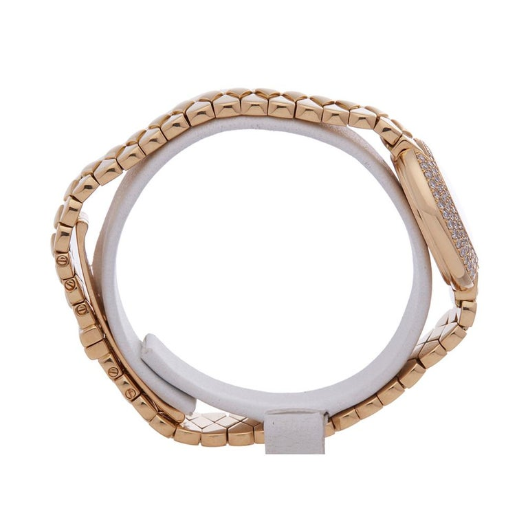 Women's Cartier Vendome 18k Yellow Gold 1292 Wristwatch For Sale