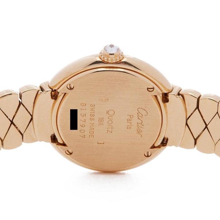 Cartier Vendome 18k Yellow Gold 1292 Wristwatch For Sale 2