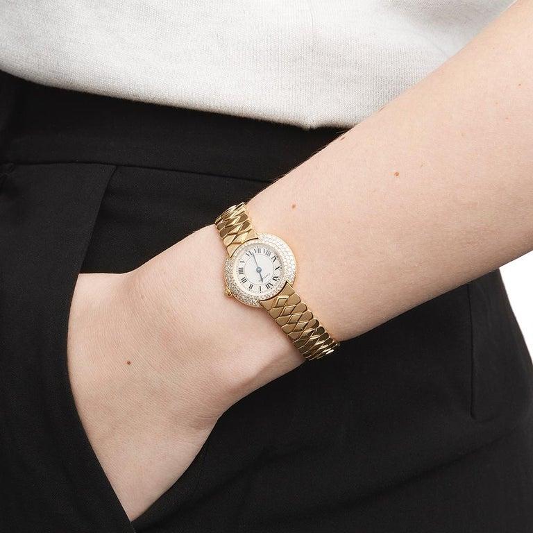Cartier Vendome 18k Yellow Gold 1292 Wristwatch For Sale 3