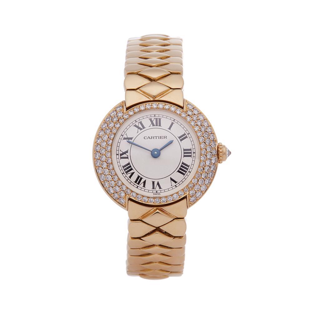 Cartier Vendome 18k Yellow Gold 1292 Wristwatch