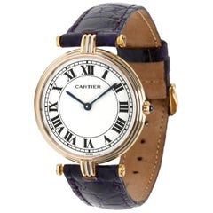 Cartier Vendome 8988 Women's Watch in 18 Karat 3-Tone Gold