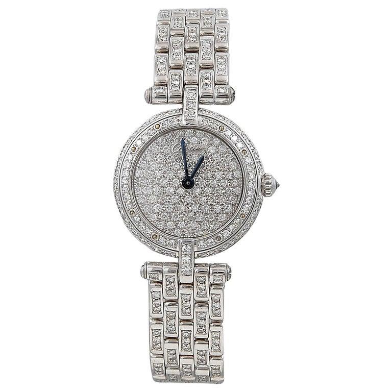 Cartier Vendome Diamond Watch For Sale