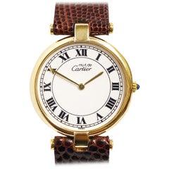 Cartier Vendome Large Must De Cartier Vermeil Quartz Wristwatch