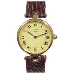Cartier Vendome Large Quartz Must de Cartier Quartz Wristwatch