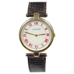 Cartier Vendome Large Vermeil Quartz Wristwatch