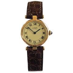 Cartier Vendome Must de Cartier Ladies Vermeil Quartz Wristwatch