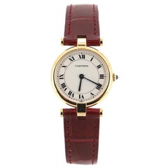 Cartier Vendome Quartz Watch Yellow Gold and Alligator 24