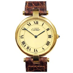 Cartier Vendome Vermeil Large Quartz Wristwatch