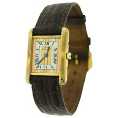 Cartier Vermeil Must de Cartier Tank Ref. 366001 Silver-Gilt Watch