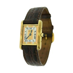Cartier Vermeil Must de Cartier Tank Ref. 366001 Silver-Gilt Watch 'Y-32'