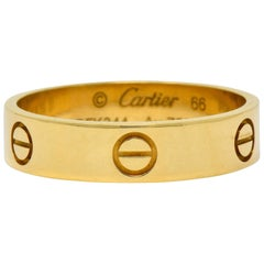 Cartier Vintage 18 Karat Gold Unisex Love Band Unisex Ring