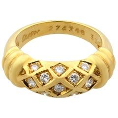 Cartier Vintage 18 Karat Yellow Gold Diamond Ring