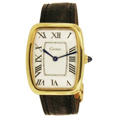 Cartier Vintage 18 Karat Gold Manual Wind Watch 53045