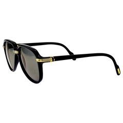 Cartier Vintage Black Vitesse Sunglasses