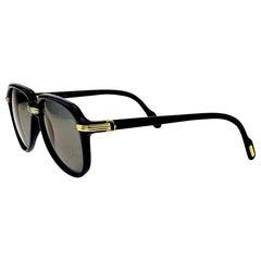 Cartier Vintage Black Vitesse Sunglasses