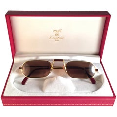 Cartier Vintage Demilune Laque De Chine Medium Reading Sunglasses France