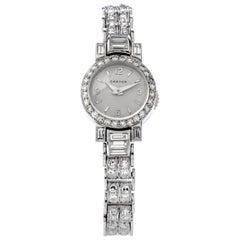 Cartier Vintage Diamond Platinum Swiss Collectible Ladies Watch