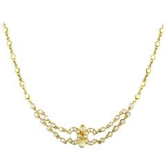 Cartier Vintage Diamond Yellow Gold Choker Necklace