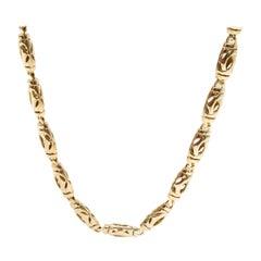 Cartier Vintage Double C Necklace in 18 Karat Yellow Gold