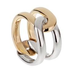 Cartier Vintage Interlocking Gold Band Ring