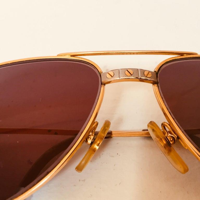 Cartier Vintage Large Vendome Santos Sunglasses with Box, 1980 1
