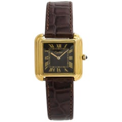 Cartier Vintage No-Ref#, Brown Dial, Certified and Warranty