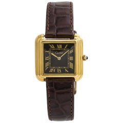 Cartier Vintage No-Rref#, Brown Dial, Certified and Warranty