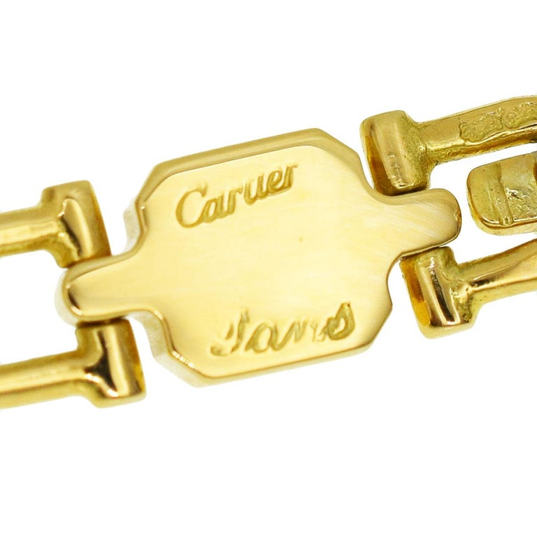 Cartier Vintage Paris Yellow Gold Necklace In Excellent Condition For Sale In Feasterville, PA