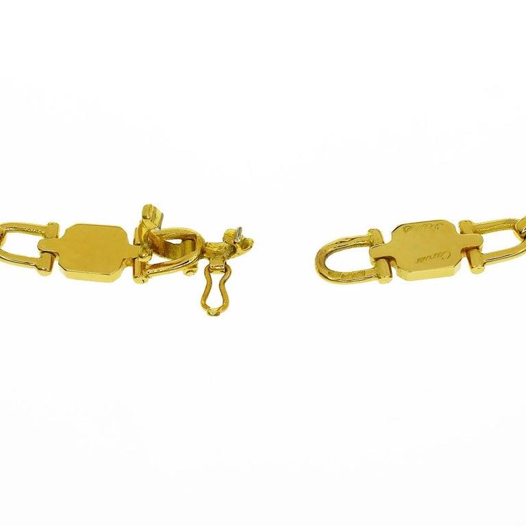 Women's Cartier Vintage Paris Yellow Gold Necklace For Sale