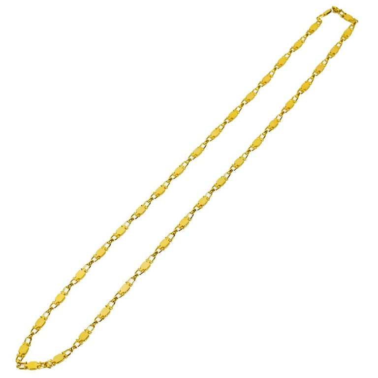 Cartier Vintage Paris Yellow Gold Necklace For Sale 1