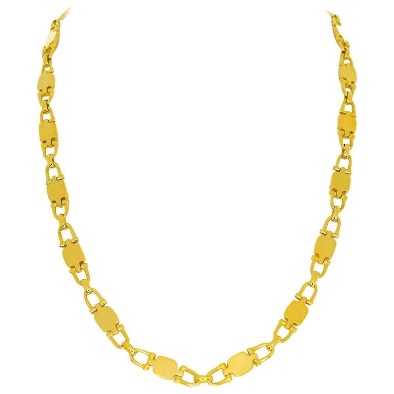 Cartier Vintage Paris Yellow Gold Necklace For Sale