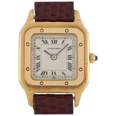 Cartier Vintage Tank 18 Karat Yellow Gold Watch