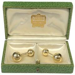 Cartier Vintage Yellow Gold Barbell Cufflinks