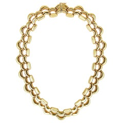 Cartier Vintage Yellow Gold Link Necklace