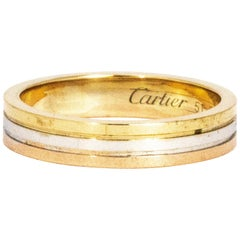 Cartier Vintage Yellow Gold, Rose Gold and White Gold Band