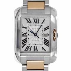 Cartier W5310007 Tank Anglaise 3511 Steel 18 Kt Yellow Gold Automatic Box Papers