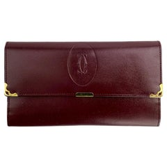 CARTIER  Wallet in Burgundy Leather