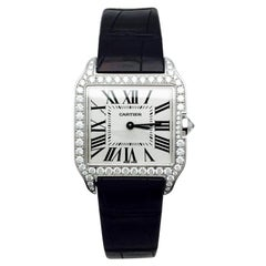 Cartier Watch, Santos Dumont Collection with Diamonds