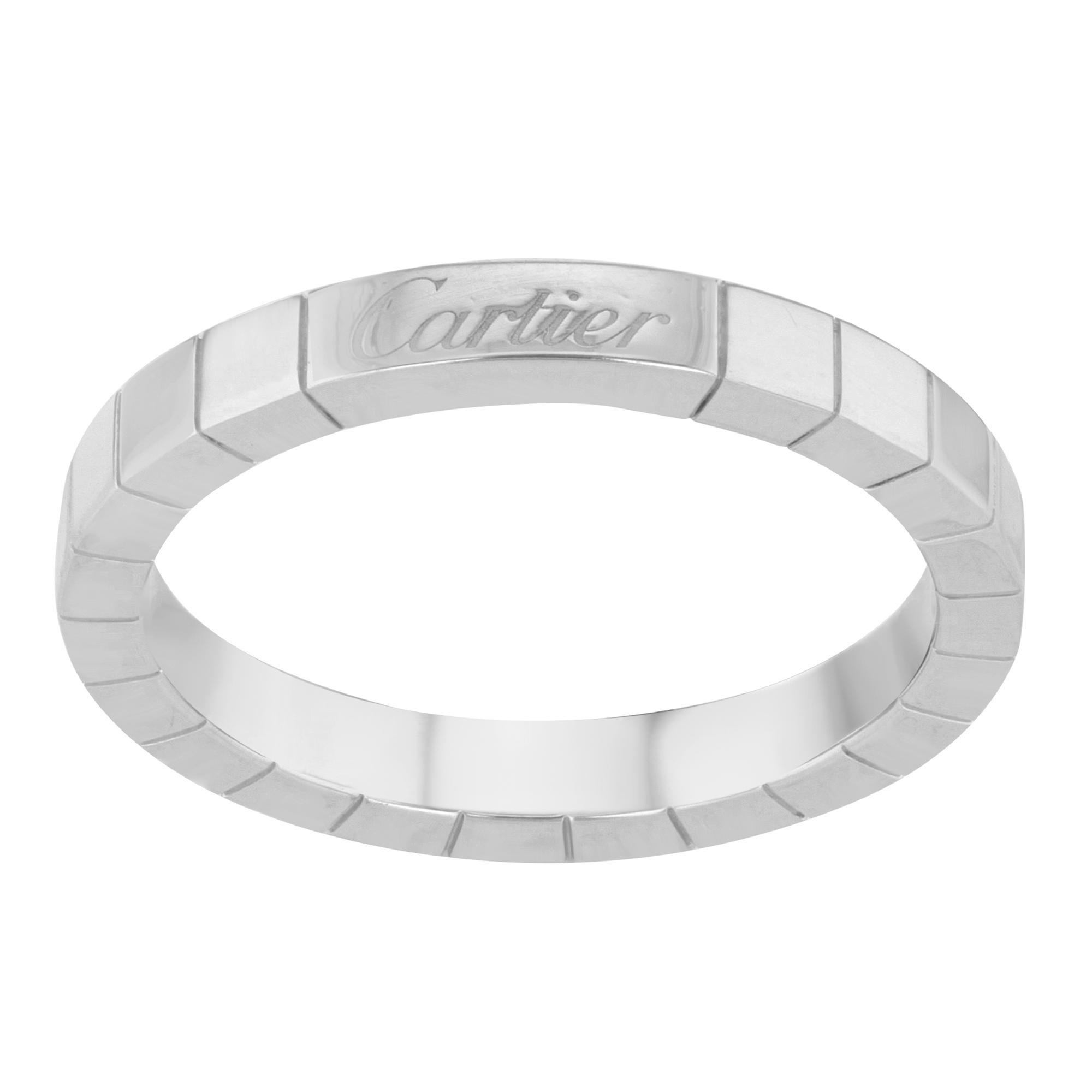 5c908524d64b2 Cartier Stella Diamond & 18k White Gold Wedding Band Ring Size 47