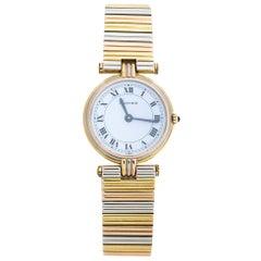 Cartier White 18k Three Tone Gold Trinity Vendôme Women's Wristwatch 25 mm