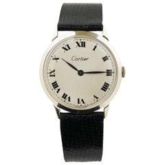 Cartier White Gold 1970s Mechanical Wristwatch