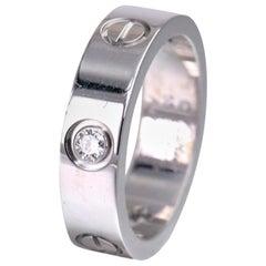 Cartier White Gold 3 Diamond Love Ring
