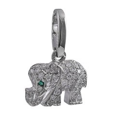 Cartier White Gold and Diamond Elephant Charm