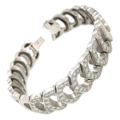 Cartier White Gold C Collection Diamond Tennis Bracelet