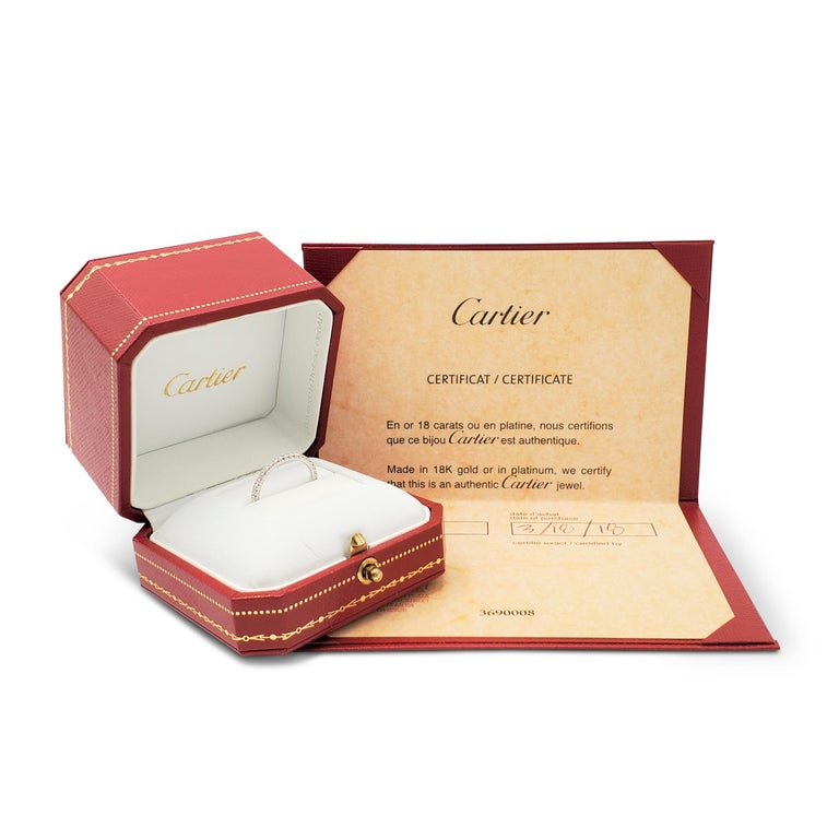 Women's Cartier White Gold Diamond Eternity Band For Sale