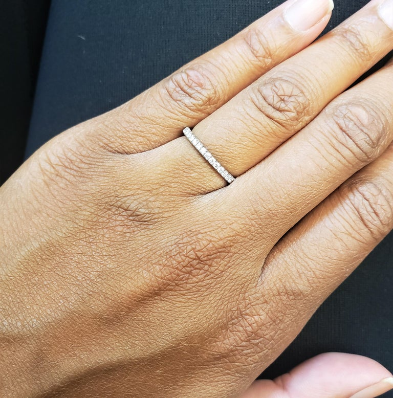Cartier White Gold Diamond Eternity Band For Sale 1