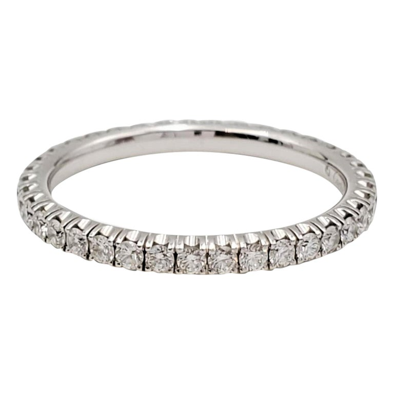 Cartier White Gold Diamond Eternity Band For Sale